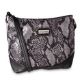 M by Miadora 'Bayla' Zip Top Gray Snake Shoulder Bag
