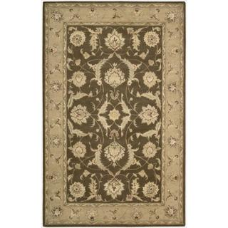 Nourison 3000 Hand-tufted Brown Wool Rug (2'6 x 4'2)