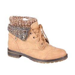 Refresh by Beston Women's 'Wynne-01' Lace-up Combat Boots