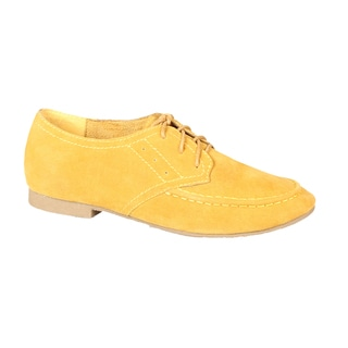 Refresh by Beston Women's 'Tessa-02' Mustard Lace-Up Oxfords