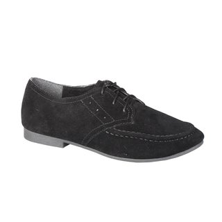 Refresh by Beston Women's 'Tessa-02' Black Lace-Up Oxfords