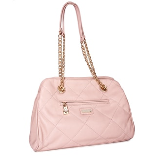 Miadora 'Kimberly' Blush Quilted Shoulder Bag