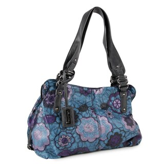 M by Miadora 'Alli' Blue Floral Satchel