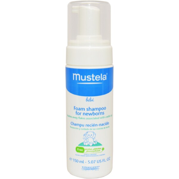 Mustela 5.07-ounce Mild Foam Shampoo Formulated for Newborns