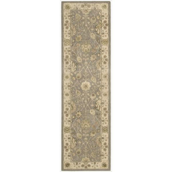 Nourison 3000 Hand-tufted Taupe Rug (2'3 x 8') Rug