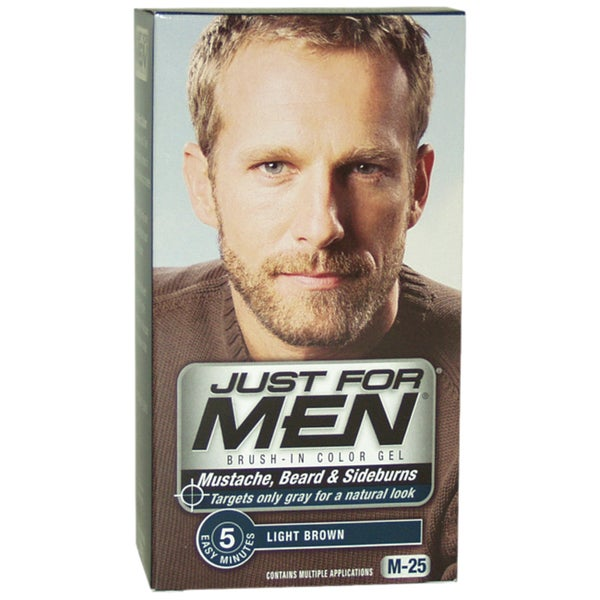 Just For Men Light Brown Mustache-Beard & Sideburns Brush-In Gel Color