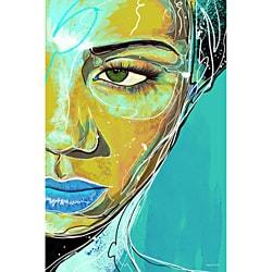 Maxwell Dickson 'Blue Tranquility' Modern Canvas Art Print