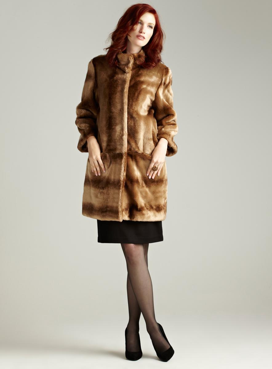 Tahari Kris Stadium Faux Fur Coat