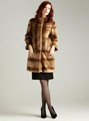 Tahari Kris Stadium Faux Fur Coat