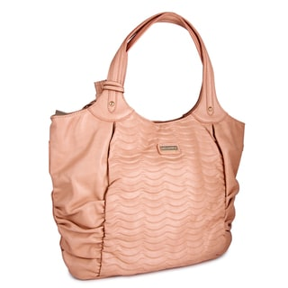 Miadora 'Natasha' Blush Faux Leather Tote Bag