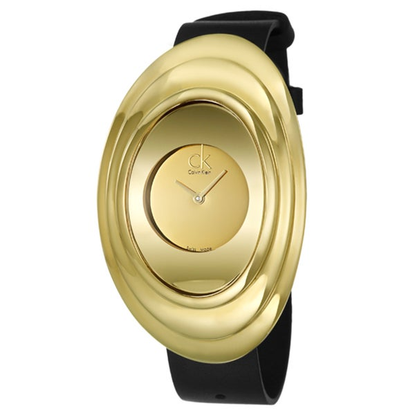 Calvin Klein Women's 'Mound' Stainless Steel Yellow Goldplated Watch