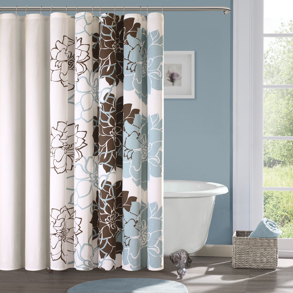 Shower Curtains | White Bathroom Cabinets