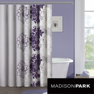 Madison Park Bridgette Sateen Printed Shower Curtain