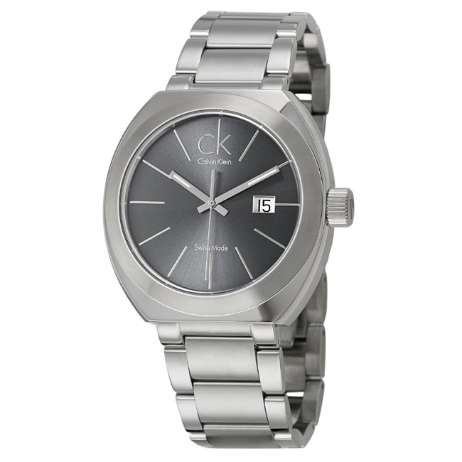 Calvin Klein Men's 'Nation' Stainless-Steel Swiss-Quartz Watch
