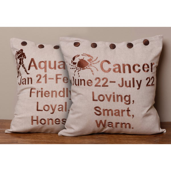 Astrology Pillow Cover , Handmade in India
