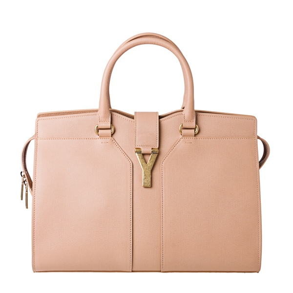 Yves Saint Laurent Medium Cabas ChYc Textured Leather Tote