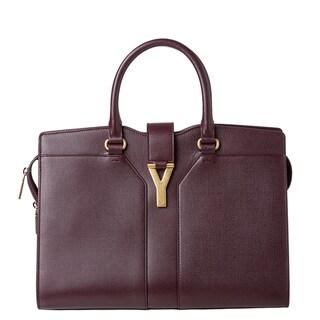 Yves Saint Laurent Medium Cabas Chic Textured Leather Tote