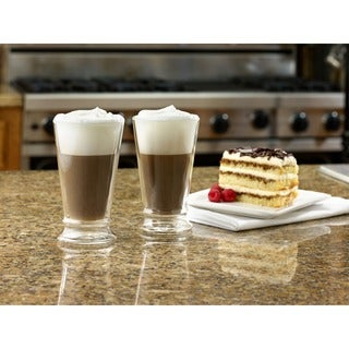 BonJour 12-ounce Insulated Glass Latte Cups (Set of 2)