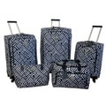 Jenni Chan Signature Black/White 5-piece Spinner Luggage Set