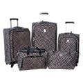 Jenni Chan Signature Brown/Silver 5-piece Spinner Luggage Set