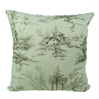 French Village Caf� Decorative Pillow