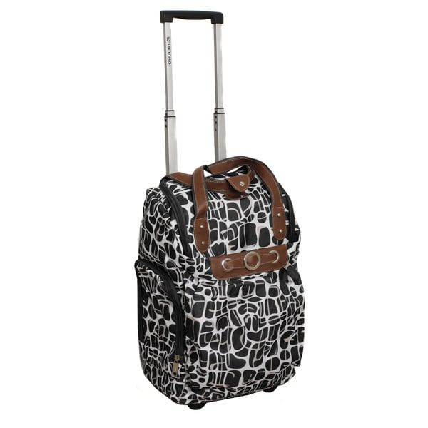 Runway Lady's Black Lightweight Carry-on Rolling Luggage Bag