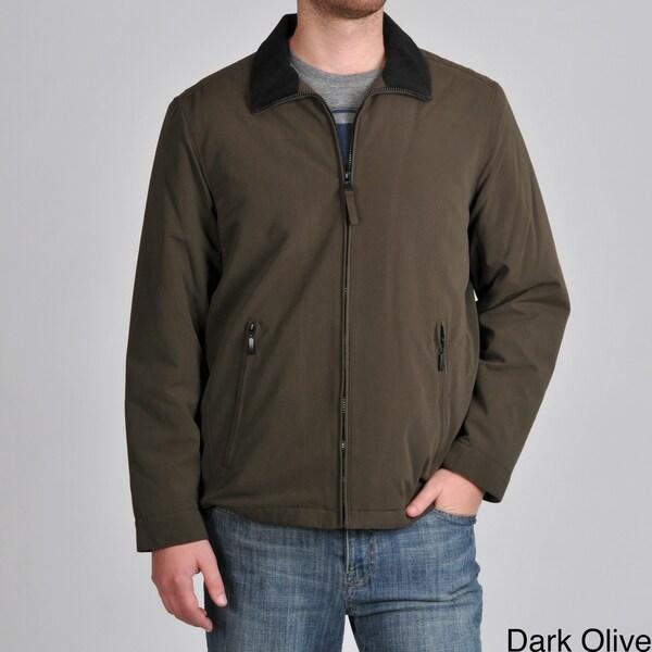 Perry Ellis Men's Microfiber Zip Front Jacket