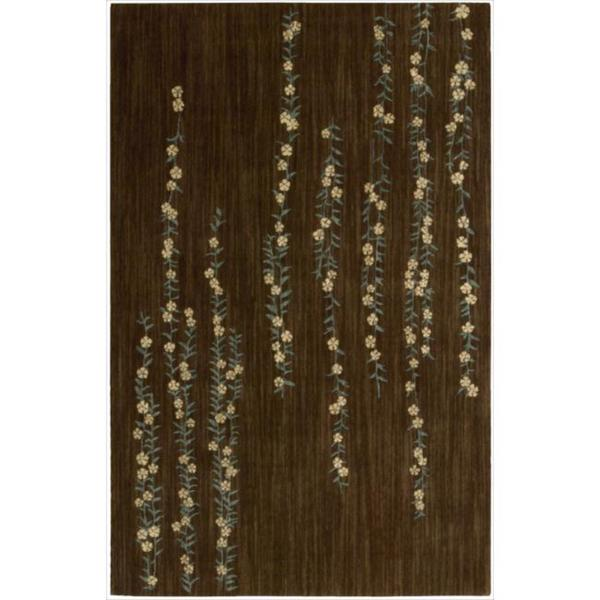 Nourison Liz Claiborne Radiant Impression Delicate Floral Chocolate Rug (3'6 x 5'6)