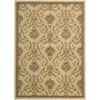 Nourison Liz Claiborne Radiant Impression Damask Beige Rug  (3'6 x 5'6)
