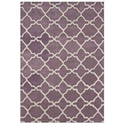 Alliyah Handmade Lilac New Zeeland Blend Wool Rug (5' x 8')