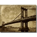 Dylan Mathews 'Bridge II' Canvas Art