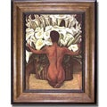 Diego Rivera 'Nude with Calla Lilies' Framed Canvas