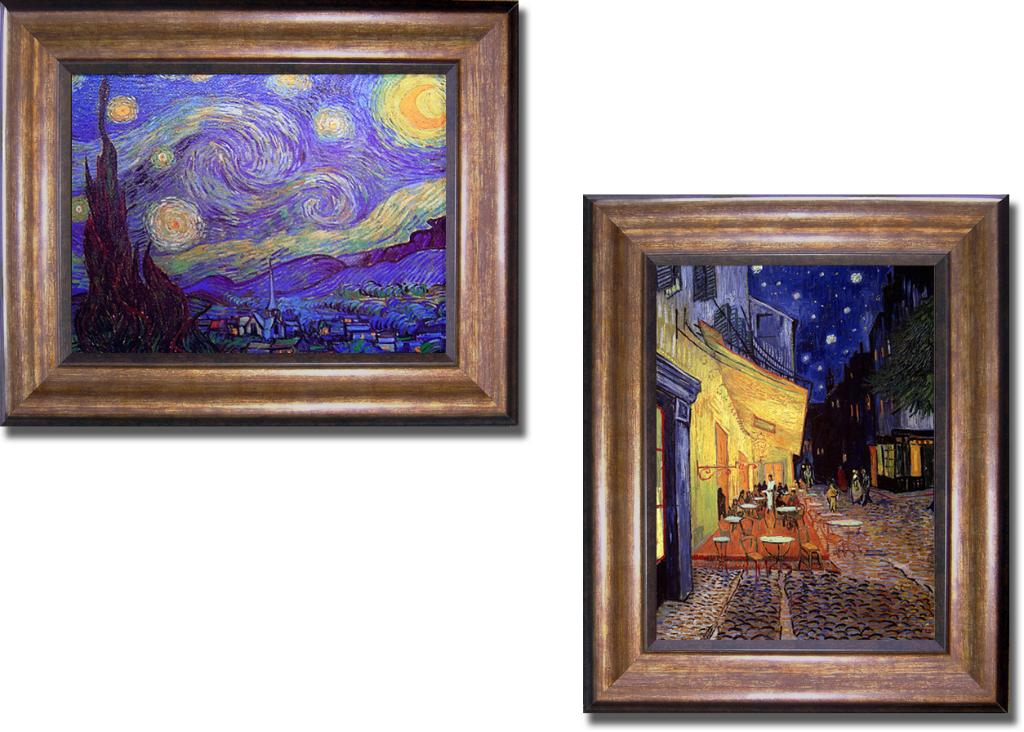 Vincent Van Gogh Cafe Terrace at Night Vincent Van Gogh Starry Night