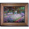 Claude Monet 'Artists Garden at Giverny' Framed Canvas Art