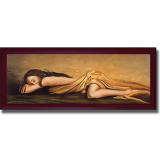 Di Scenza 'Resting' Framed Canvas Art