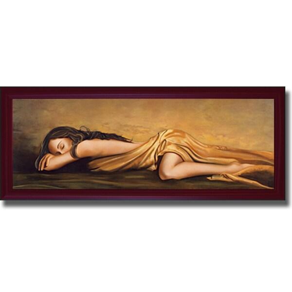 Di Scenza 'Resting' Framed Canvas Art