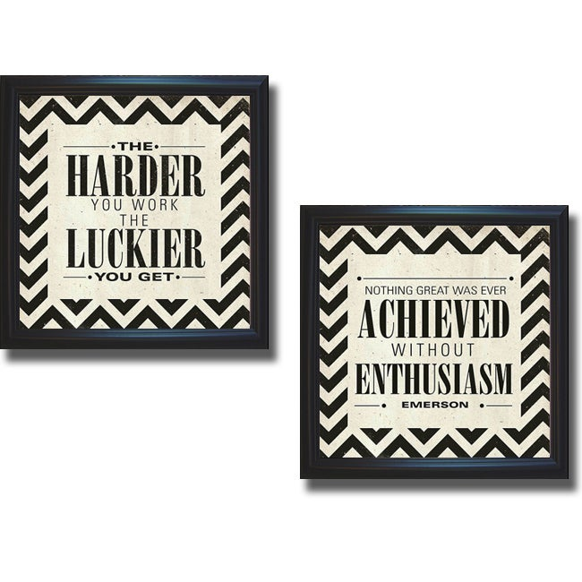 sdgraphics 'Harder and Achieved' Framed 2-piece Canvas Art Set