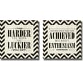sdgraphics 'Harder and Achieved' 2-piece Canvas Art Set