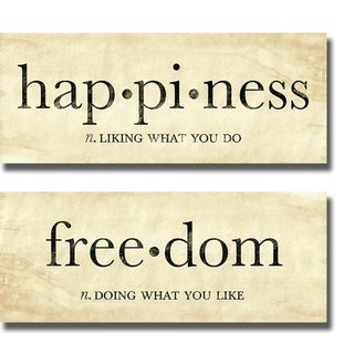 sdgraphics 'Happiness and Freedom' Canvas Art
