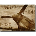 Dylan Mathews 'Vintage Airplane' Canvas Art