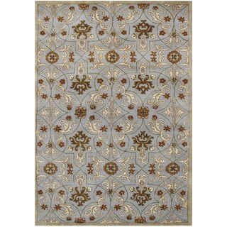 Sabrina Hand Made Pearl Blue New Zealand Wool Rug (9' x 12')