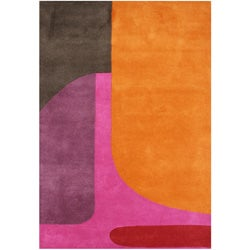 Alliyah Handmade Flame Orange New Zealand Blend Wool Rug (8' x 10')