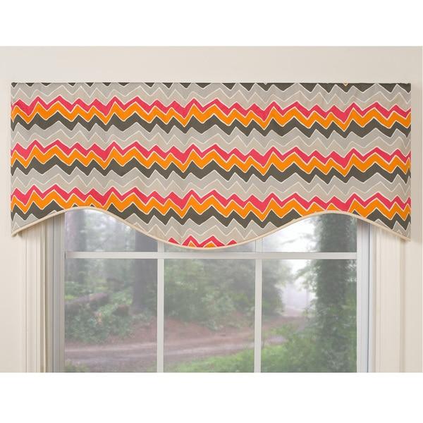 Tempo Orange M-shaped Window Valance