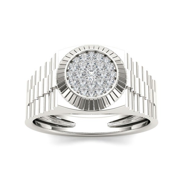 De Couer 10k White Gold Men's 1/2ct TDW Diamond Ring (H-I, I2)