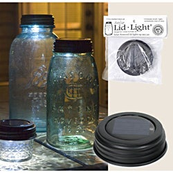Colonial Tin Works Solar Mason Jar Lid Light