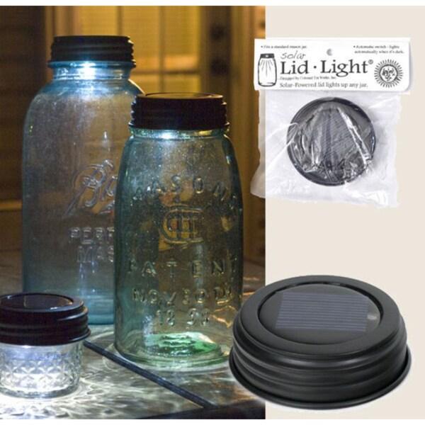 Colonial Tin Works Solar Mason Jar Lid Light