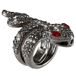 Kenneth Jay Lane Silvertone Snake Ring