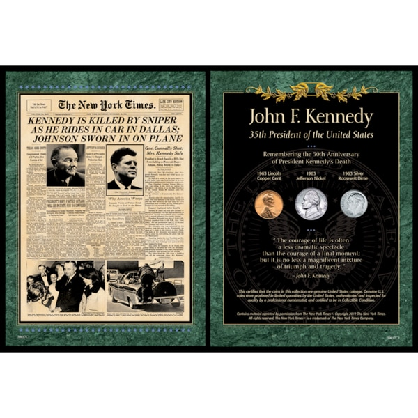 American Coin Treasures New York Times JFK Assassination Coin Portfolio