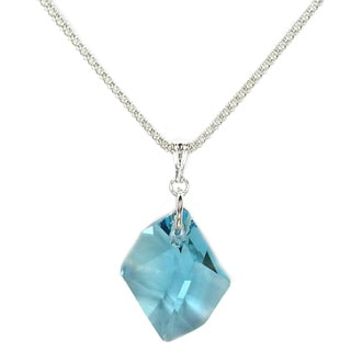 Jewelry by Dawn Aquamarine Crystal Cosmic Sterling Silver Bombata Chain Necklace