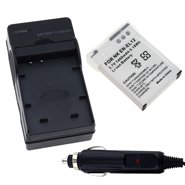 INSTEN Car Charger/ Travel Charger/ Battery for Nikon EN-EL12/ S8000